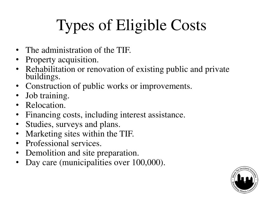 Types of Eligible Costs