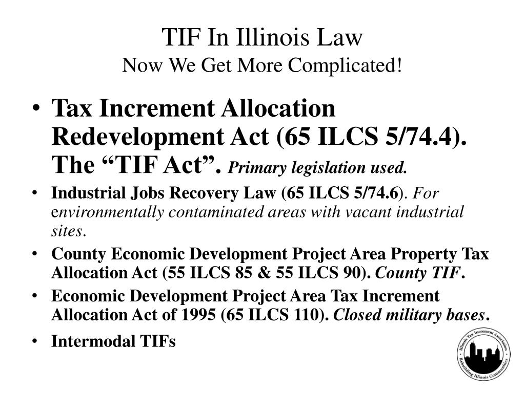 TIF In Illinois Law