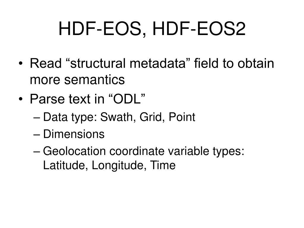 HDF-EOS, HDF-EOS2
