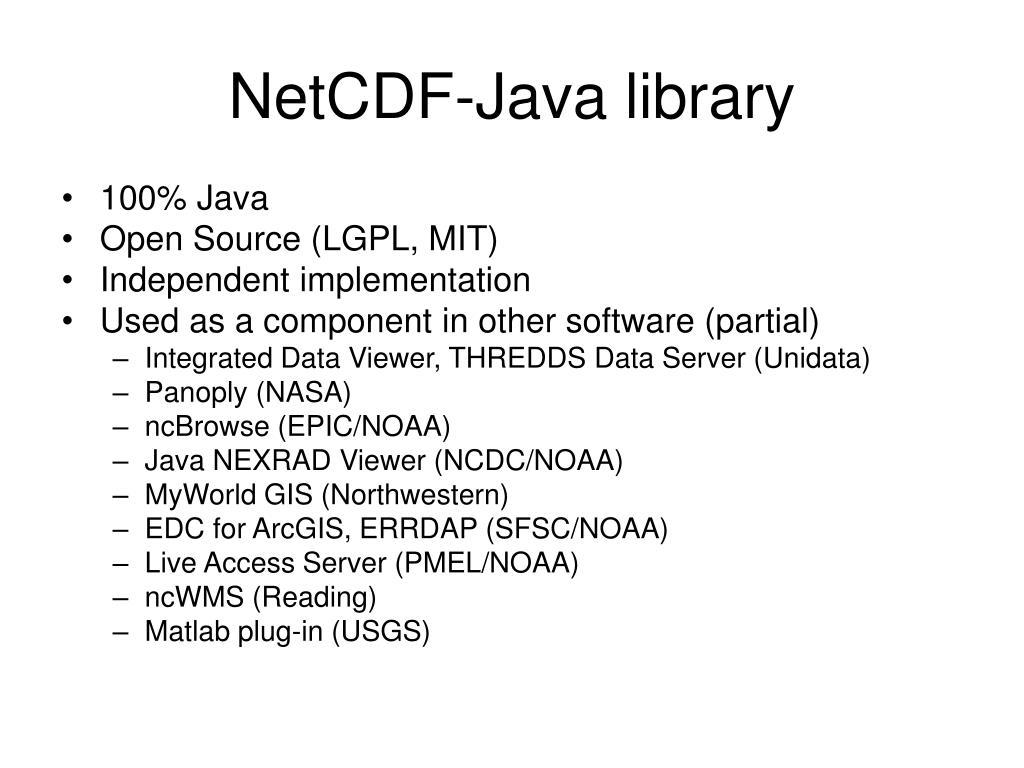 NetCDF-Java library
