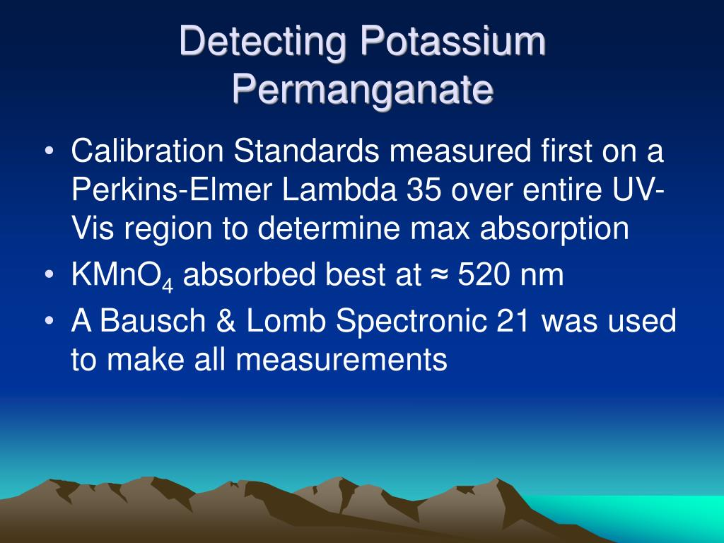 Detecting Potassium Permanganate