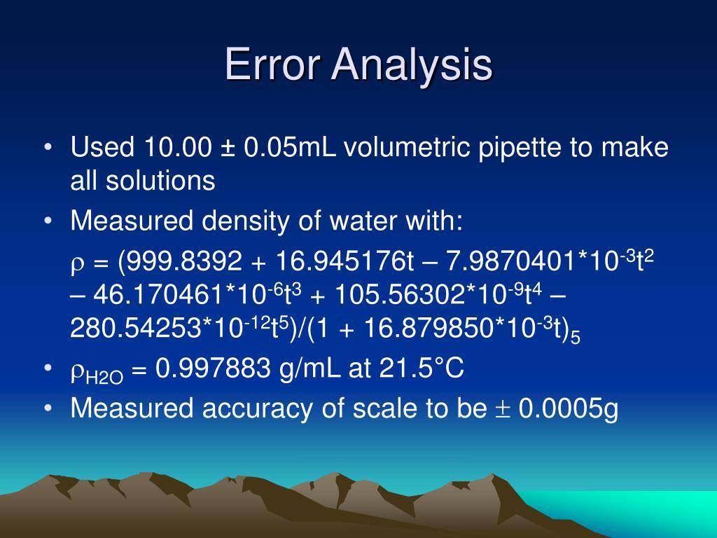 Error Analysis