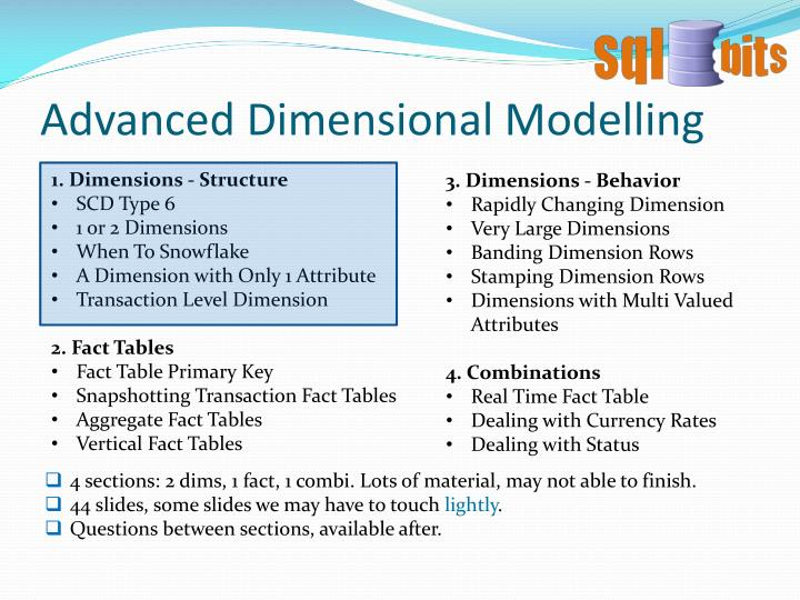 Advanced dimensional modelling2