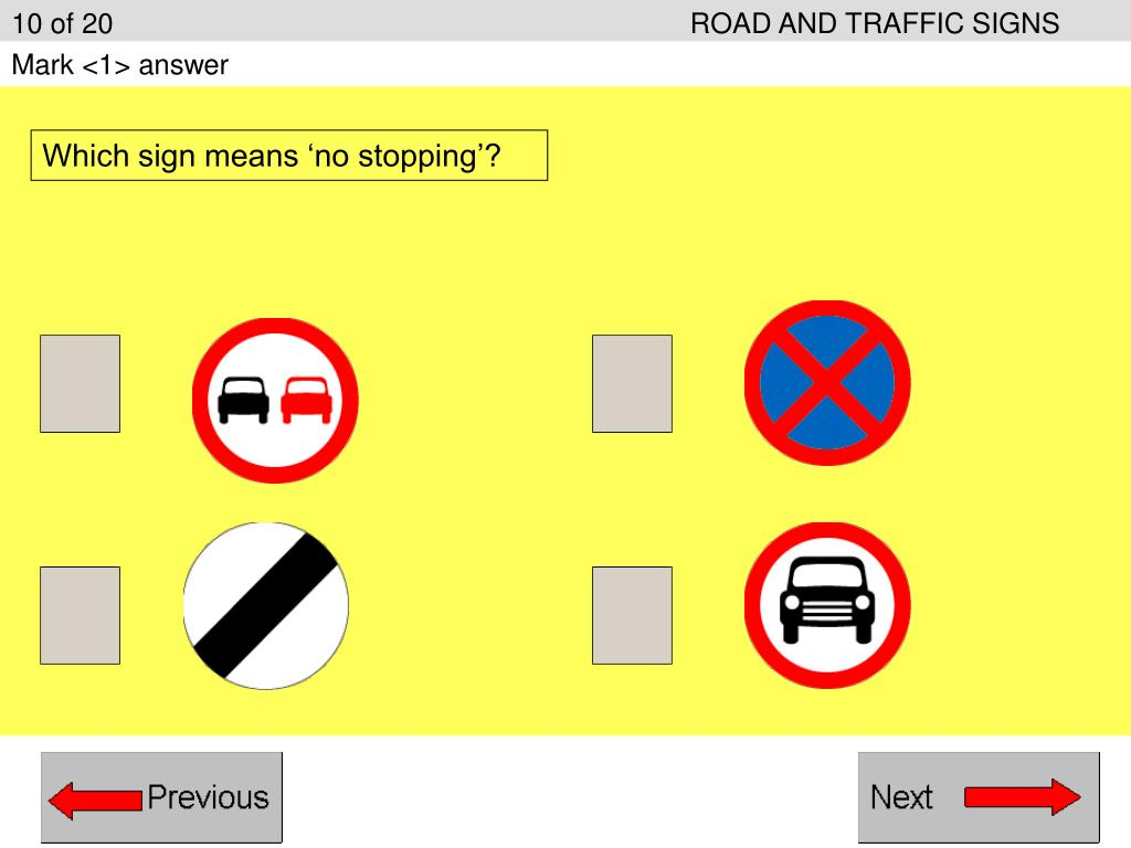 10 of 20ROAD AND TRAFFIC SIGNS