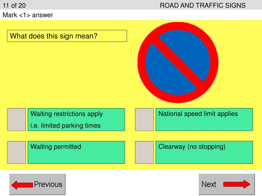 11 of 20ROAD AND TRAFFIC SIGNS