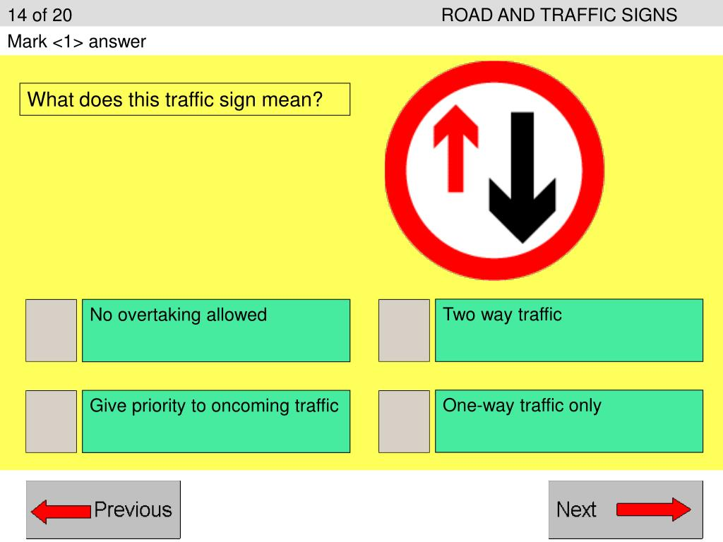14 of 20ROAD AND TRAFFIC SIGNS