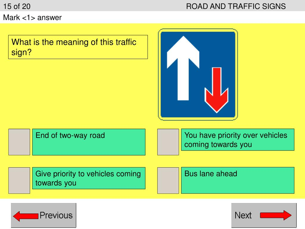 15 of 20ROAD AND TRAFFIC SIGNS