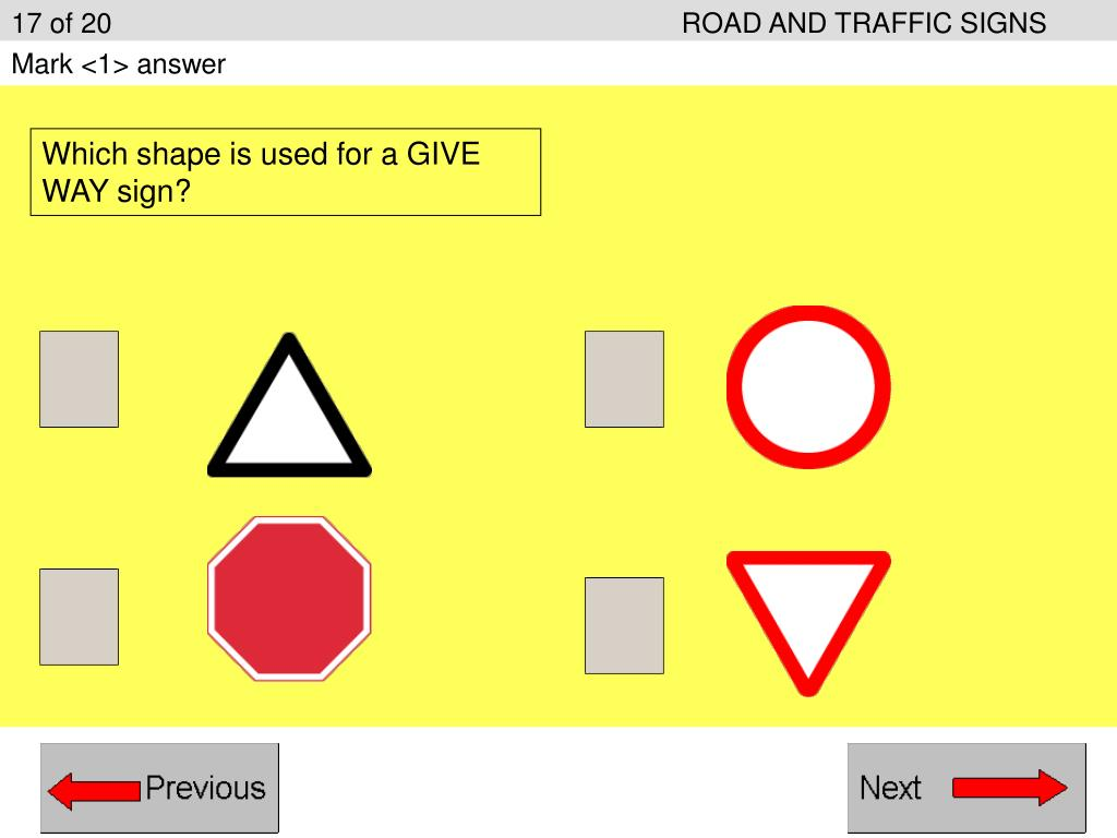 17 of 20ROAD AND TRAFFIC SIGNS