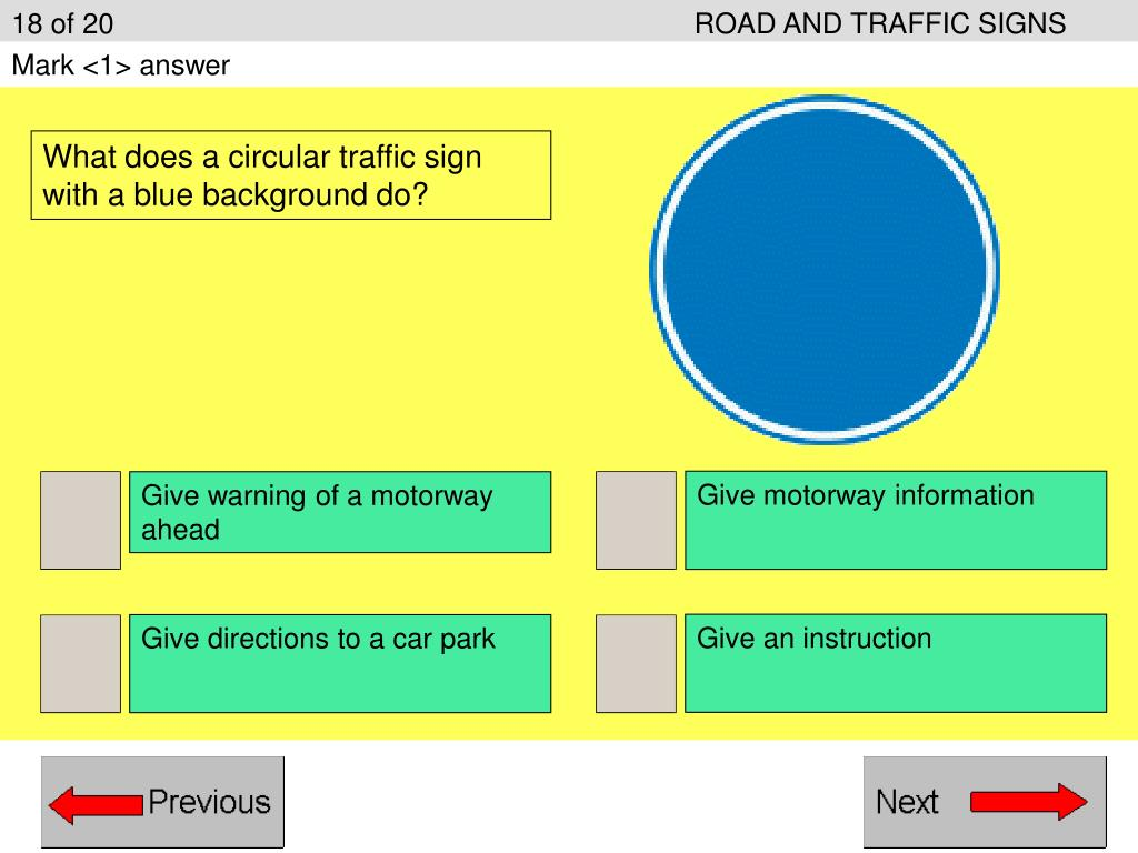 18 of 20ROAD AND TRAFFIC SIGNS