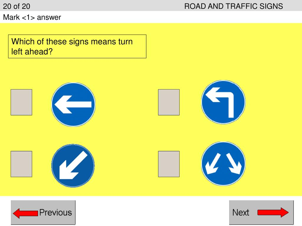 20 of 20ROAD AND TRAFFIC SIGNS