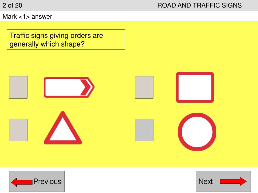 2 of 20ROAD AND TRAFFIC SIGNS
