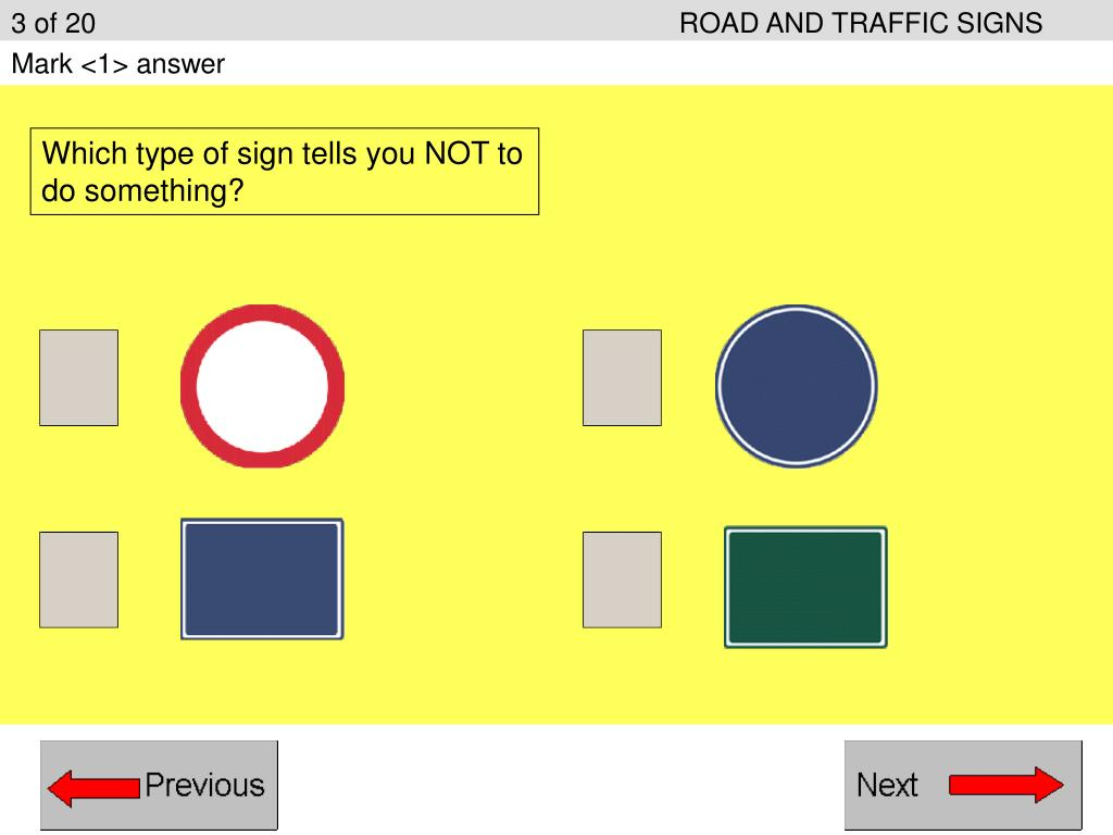 3 of 20ROAD AND TRAFFIC SIGNS