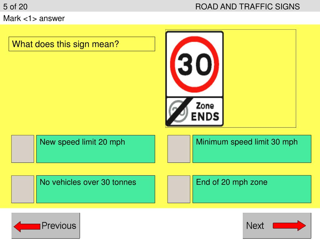 5 of 20ROAD AND TRAFFIC SIGNS