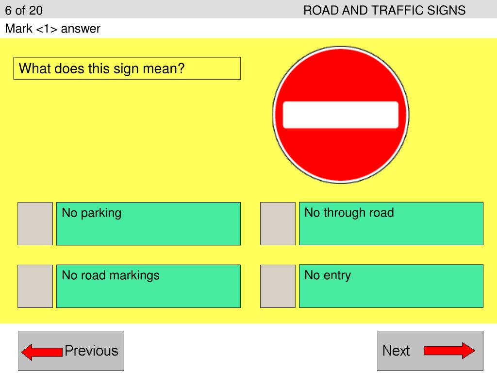 6 of 20ROAD AND TRAFFIC SIGNS