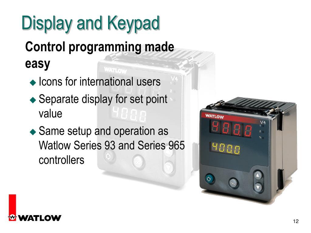 Display and Keypad