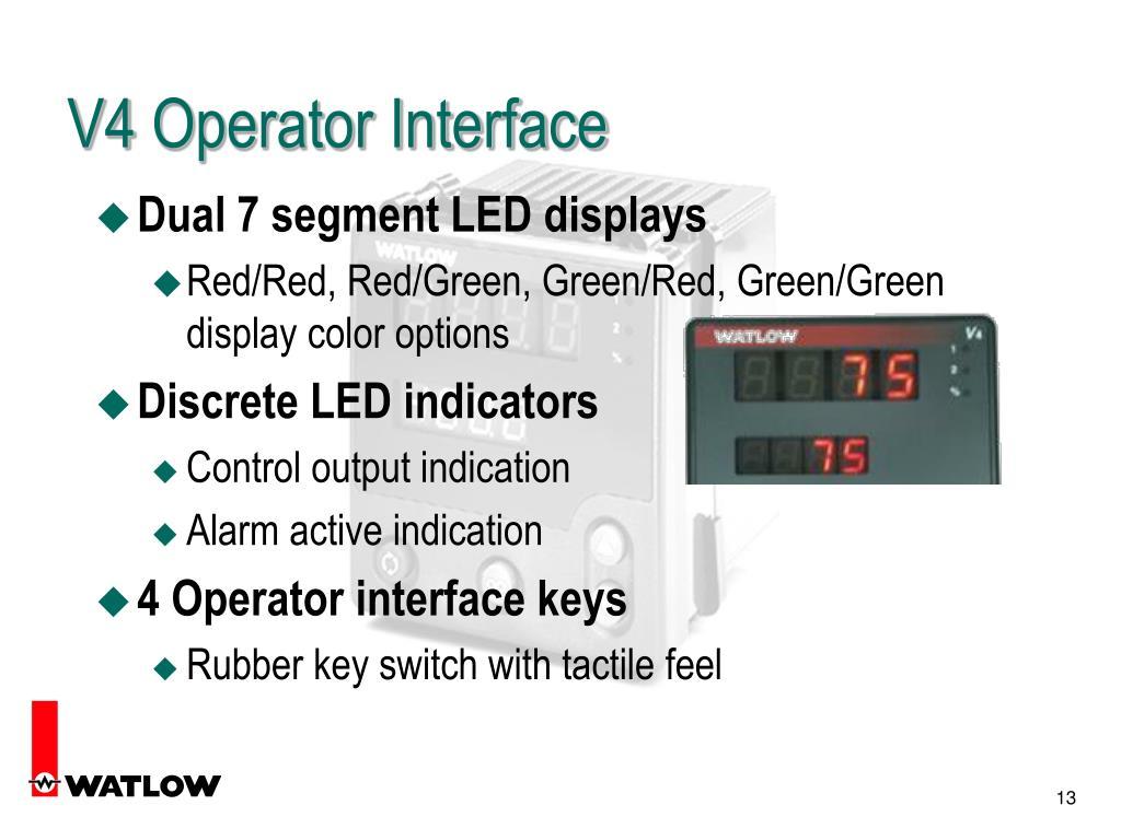 V4 Operator Interface