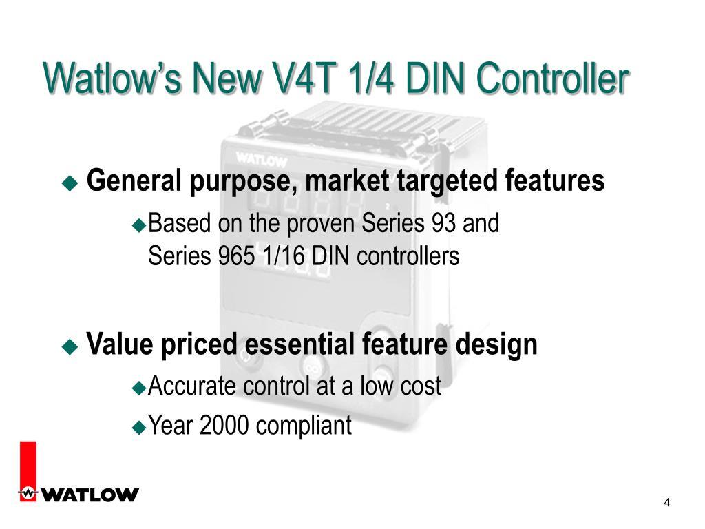 Watlow's New V4T 1/4 DIN Controller