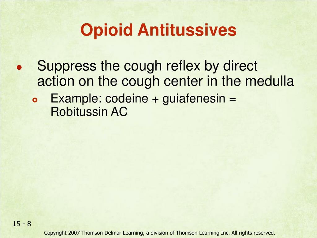 Opioid Antitussives