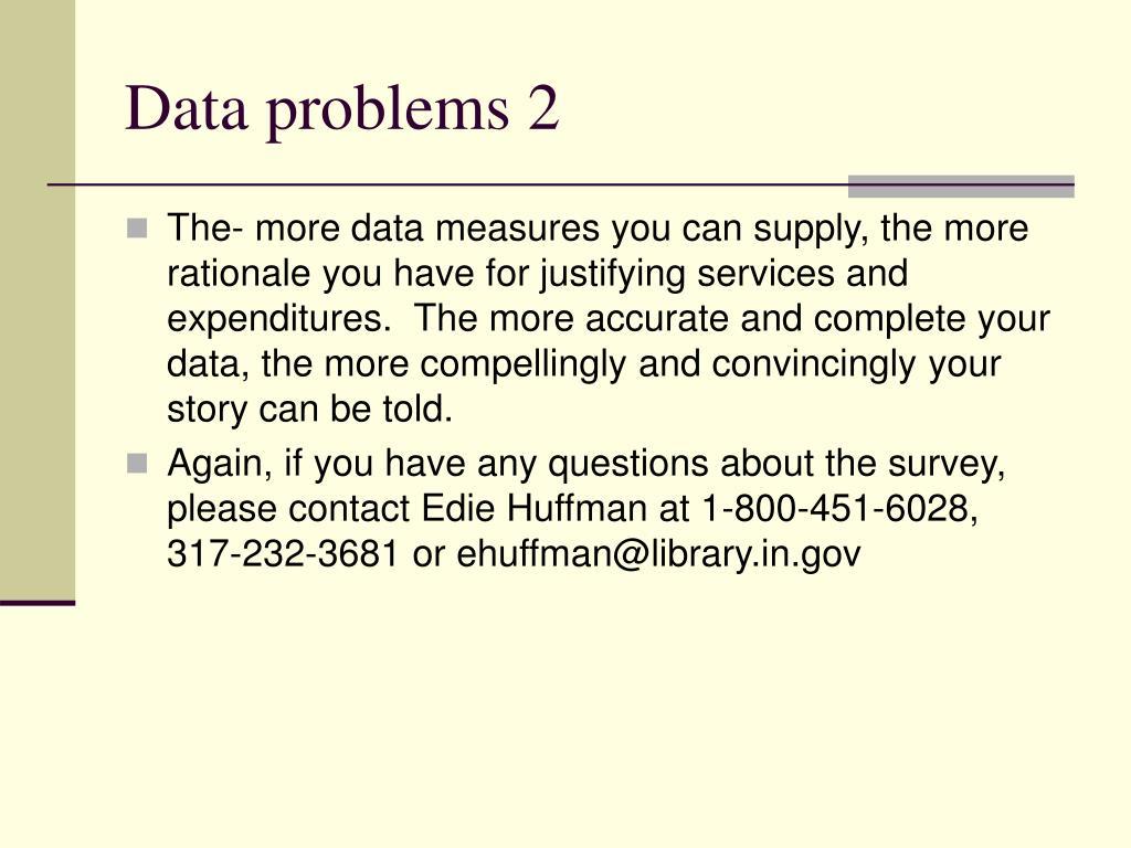Data problems 2