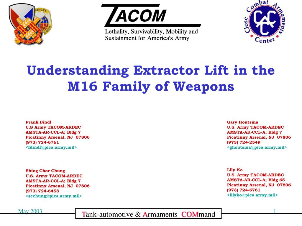 Understanding Extractor Lift in the M16 Family of Weapons