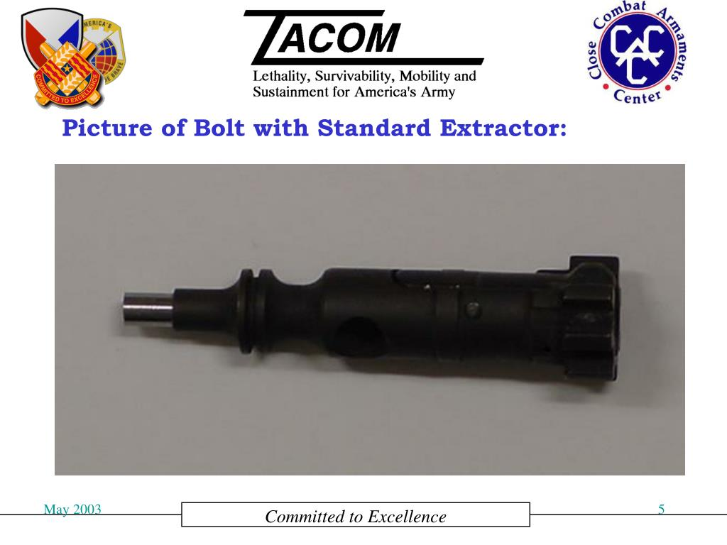 Picture of Bolt with Standard Extractor: