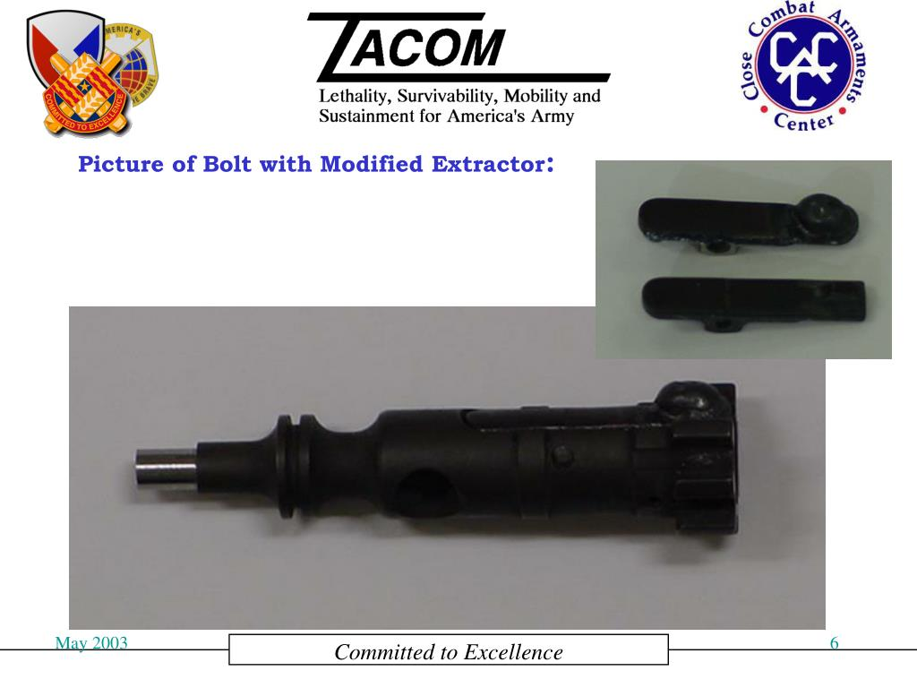Picture of Bolt with Modified Extractor