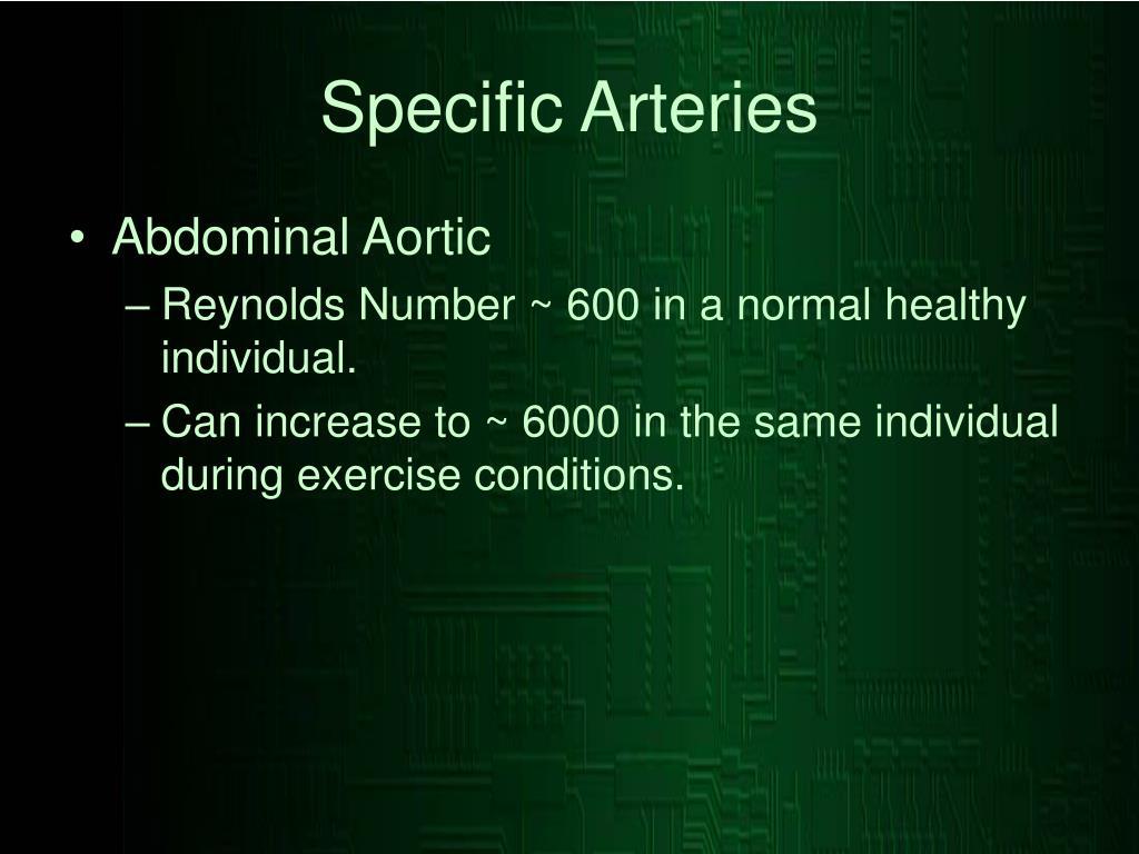 Specific Arteries