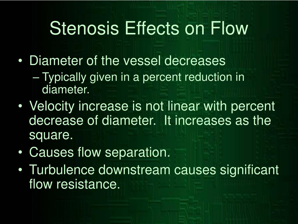 Stenosis Effects on Flow