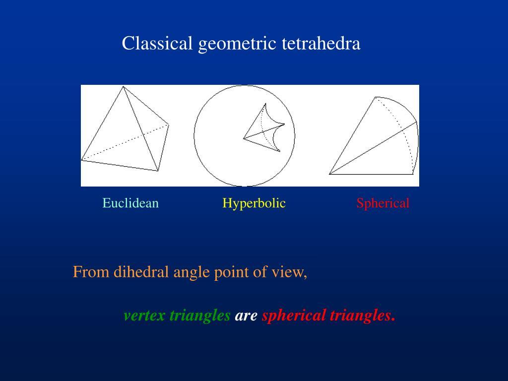 Classical geometric tetrahedra