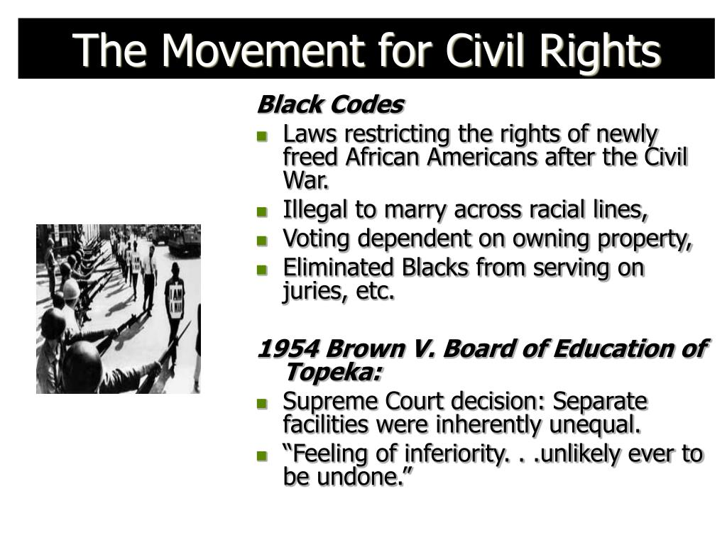 The Movement for Civil Rights