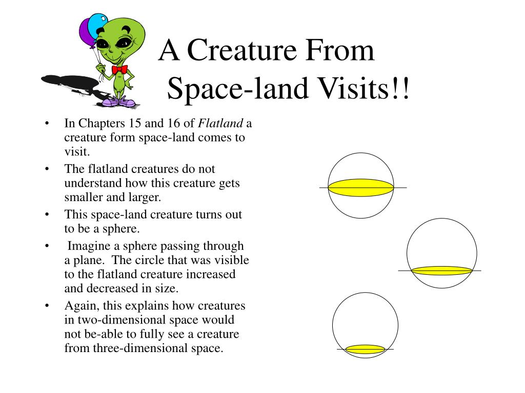 A Creature From 		Space-land Visits!!