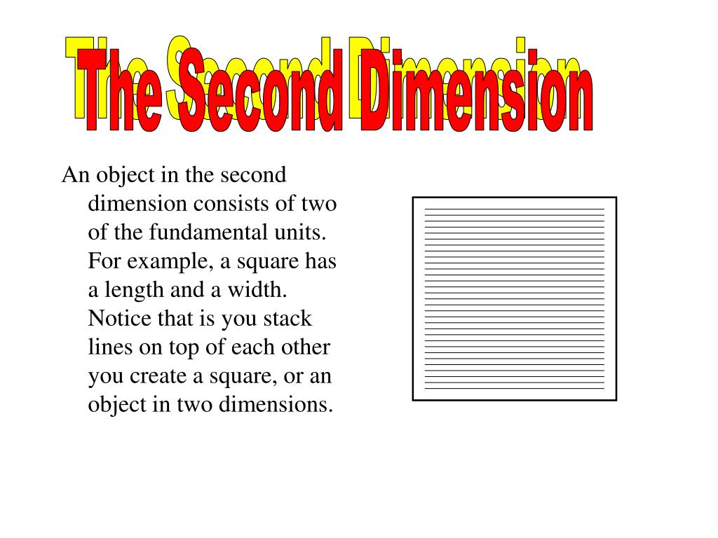 The Second Dimension