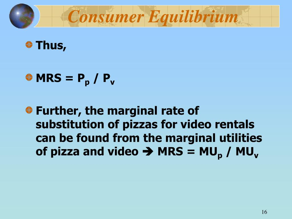 consumer equilibrium Advertisements: one-commodity equilibrium: when a consumer is purchasing one com­modity, he stops buying when its price and utility have been equated at this point, his total utility is the.
