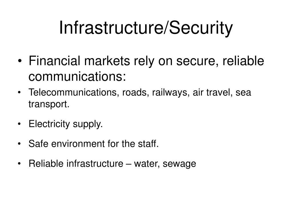 Infrastructure/Security