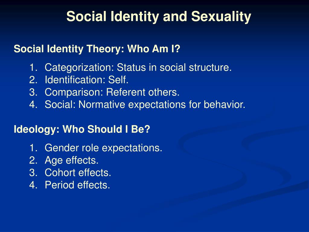 Social Identity and Sexuality