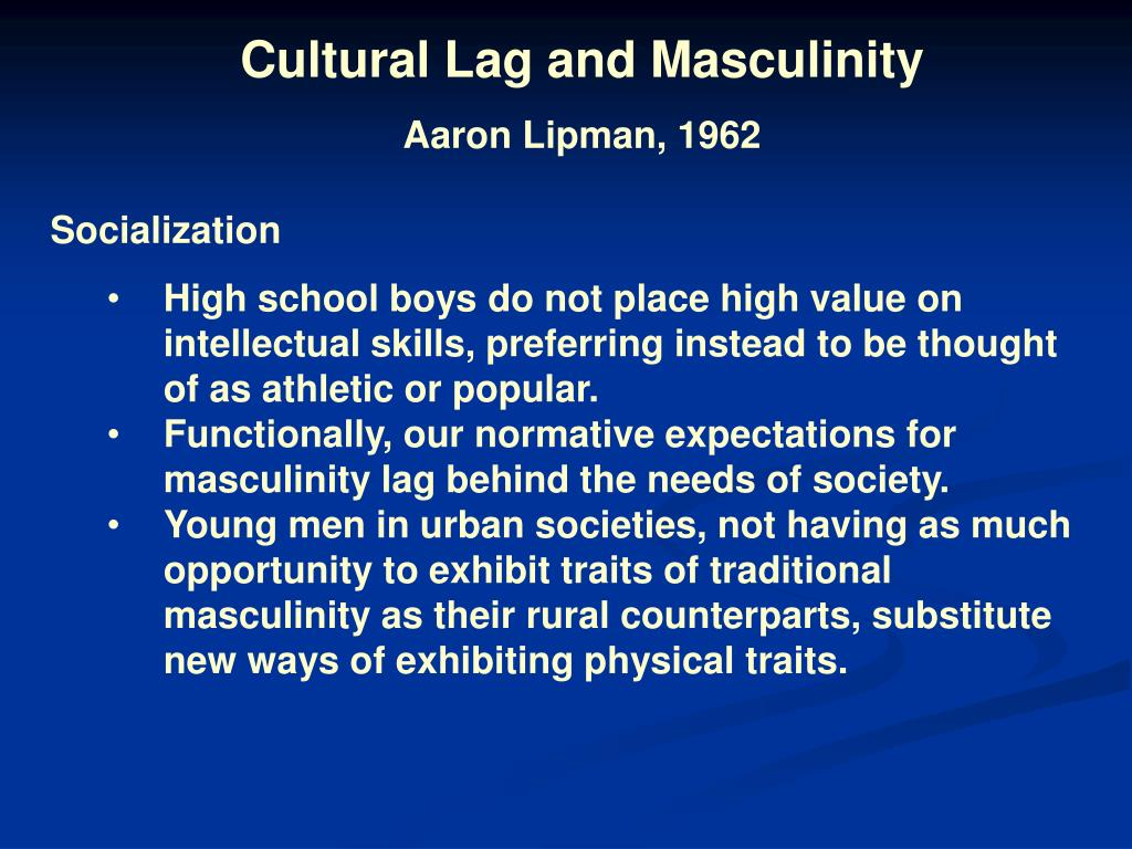 Cultural Lag and Masculinity