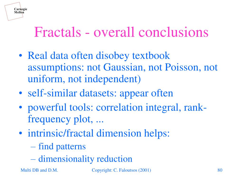 Fractals - overall conclusions