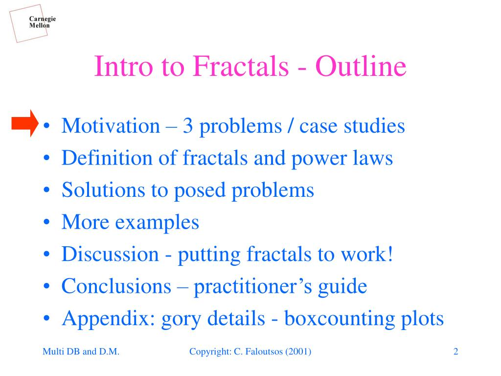 Intro to Fractals - Outline