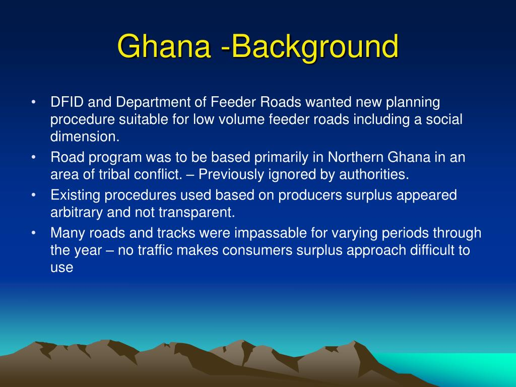 Ghana -Background