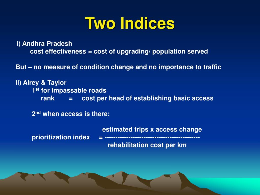 Two Indices