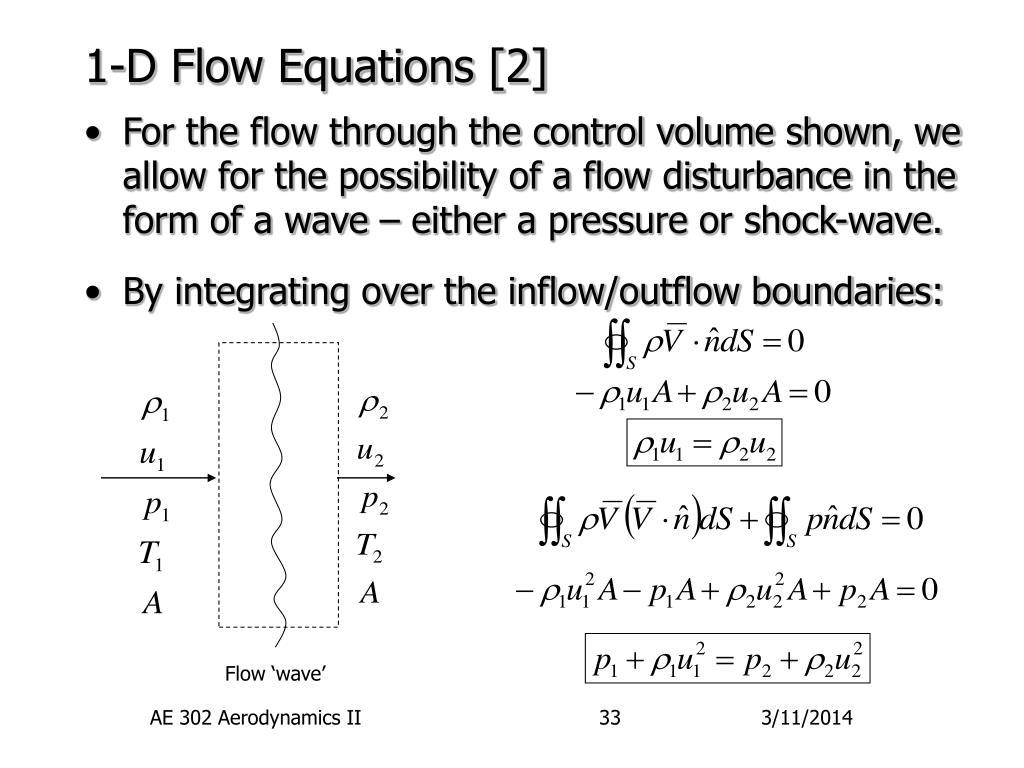 1-D Flow Equations [2]