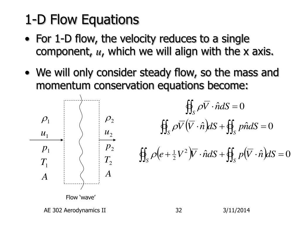 1-D Flow Equations