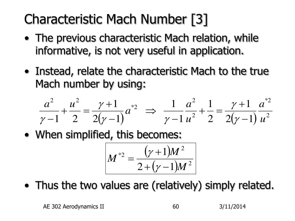 Characteristic Mach Number [3]