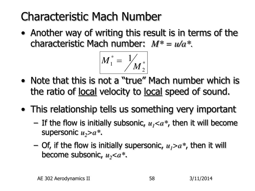 Characteristic Mach Number