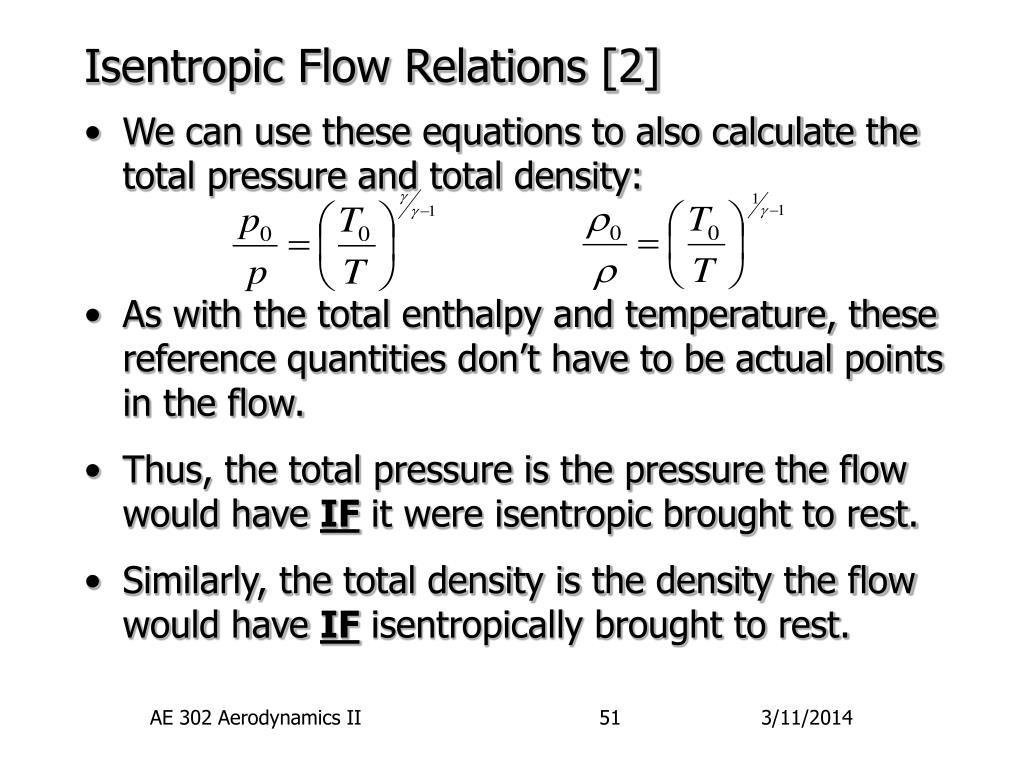 Isentropic Flow Relations [2]
