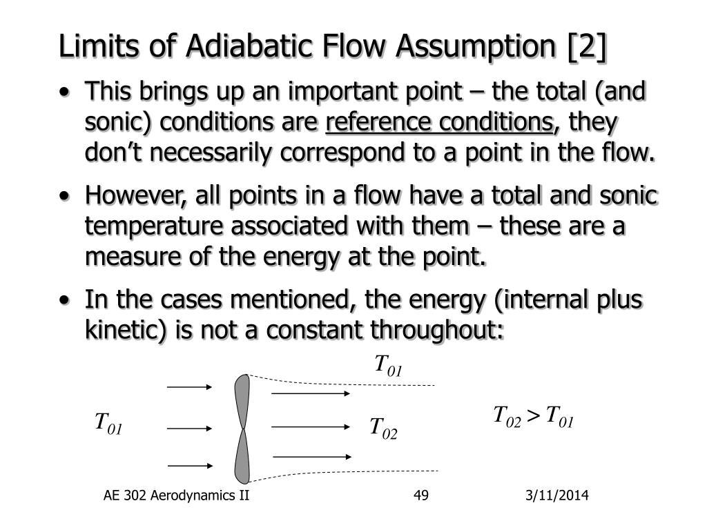 Limits of Adiabatic Flow Assumption [2]