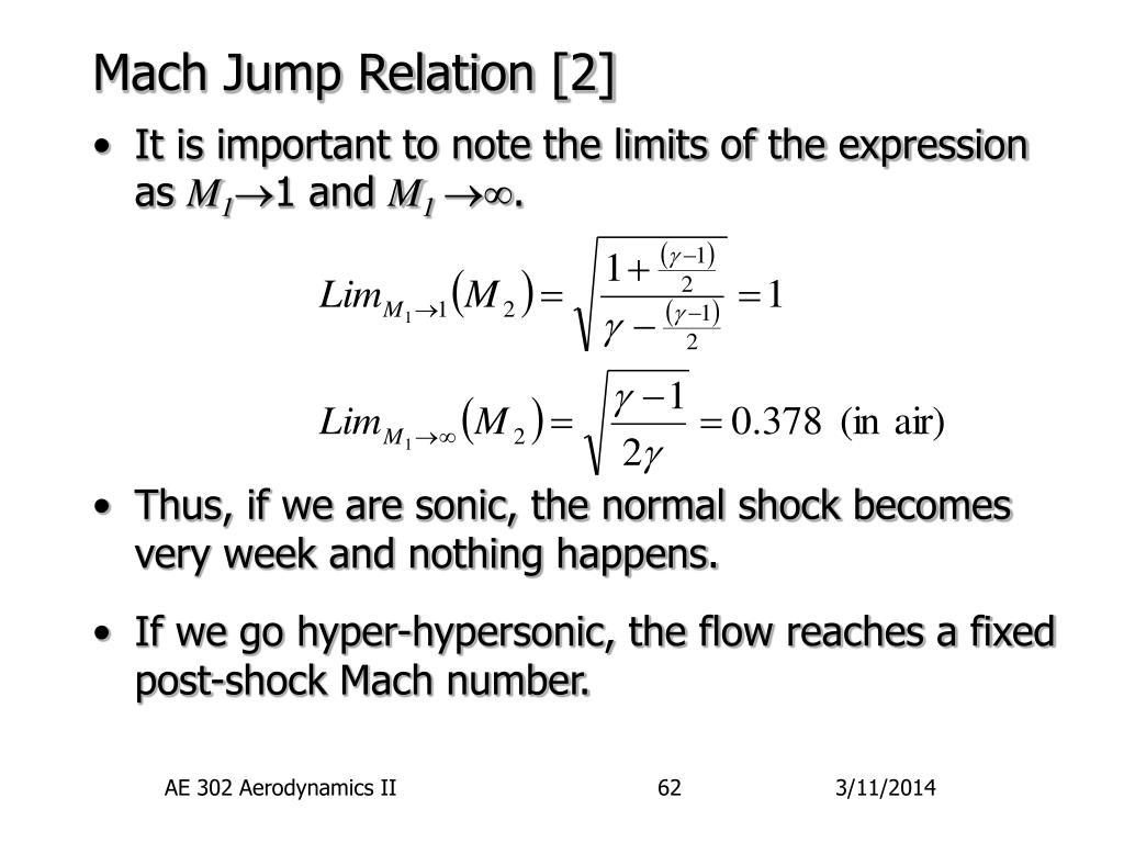 Mach Jump Relation [2]