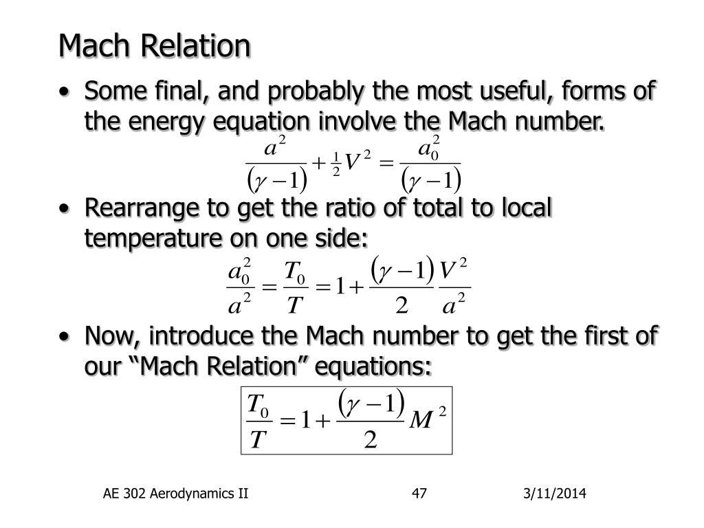 Mach Relation