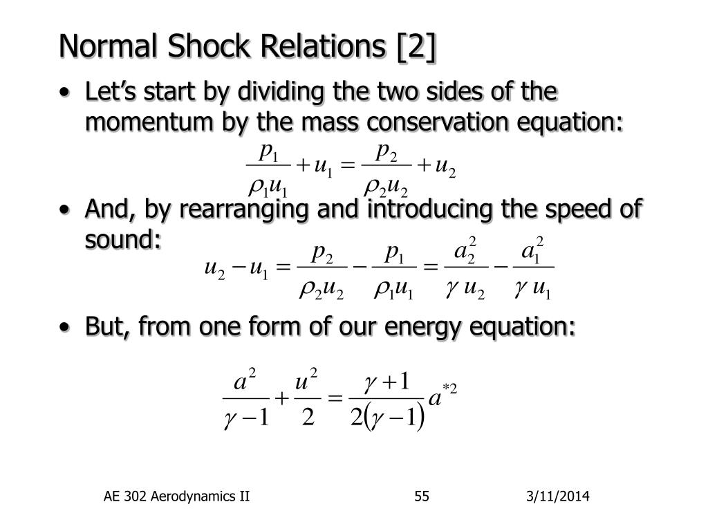 Normal Shock Relations [2]