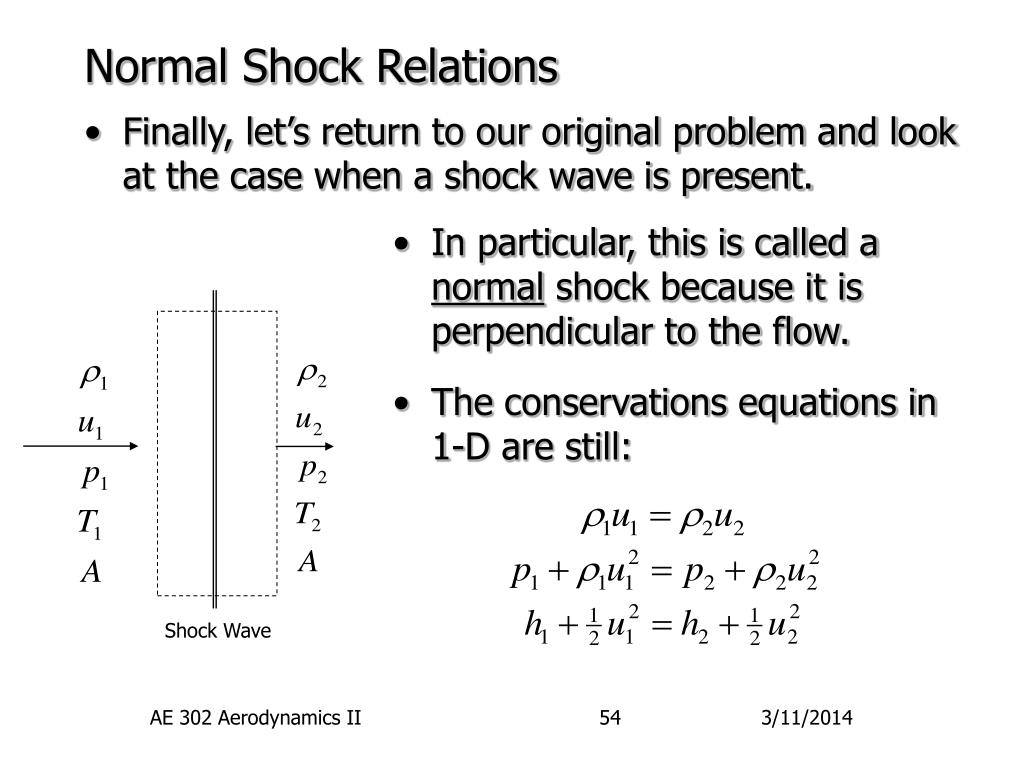 Normal Shock Relations